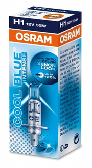 Лампа Osram H1 12V4000K  Cool Blue  UV FILTER