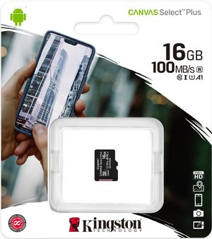 Карта памяти MicroSDHC 16 Gb Kingston class 10 100Mb/s