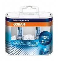 Набор ламп Osram H4 12v 60/55w - P43t-+20% Cool Blue Intense DuoBox (64193CBI)