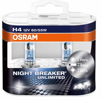 Набор ЛампOsram H4-12v 60/55w - P43t- Night Breaker unlimited +110% DuoBox