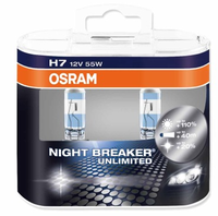 Набор ламп Osram H7-12v 55w - PX26d Night Breaker unlimited +110% DuoBox
