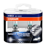 Набор ламп Osram HB3-12v 55w - P14.5s Night Breaker unlimited +110% DuoBox